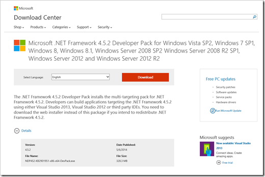 Microsoft  NET Framework 4 5 2 Released - DZone Web Dev