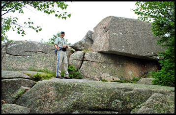 02i- Pemetic Mtn Hike - David and the Pink Granite