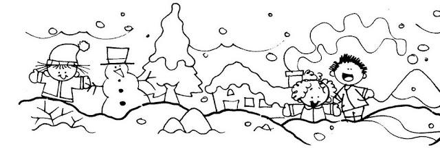 Dibujos Del Invierno Para Colorear