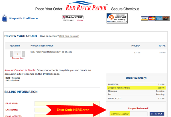 Red River Paper Coupon Code