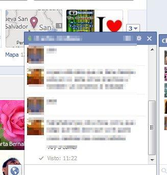 Chat de Facebook: mensajes vistos