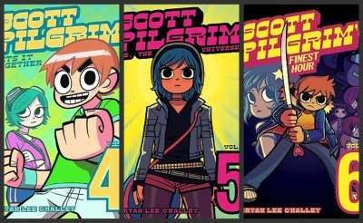 scott pilgrim covers 4 through 6