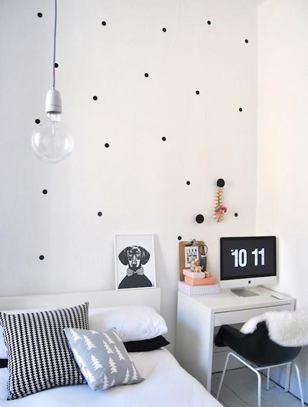 bolinhas na decoração de quartos