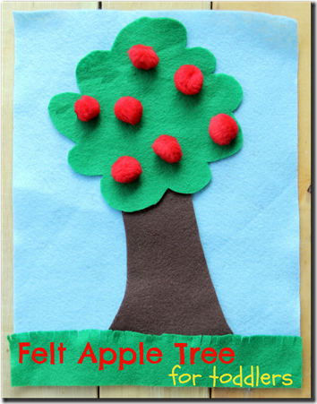 Felt Apple Tree for Toddlers #preschool #fall