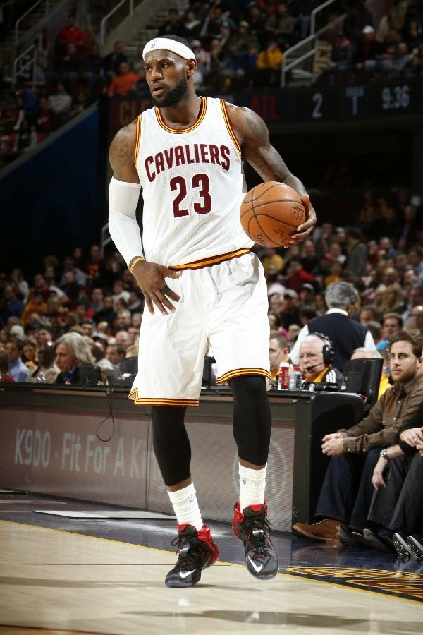 the latest 7e1bd 8b8cc King James Debuts 8220Bred8221 LeBron 12 PE in Loss vs Hawks  LeBron James   Nike ...