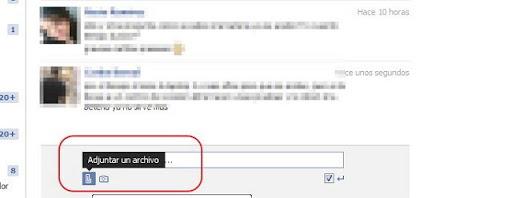enviar archivos adjuntos facebook