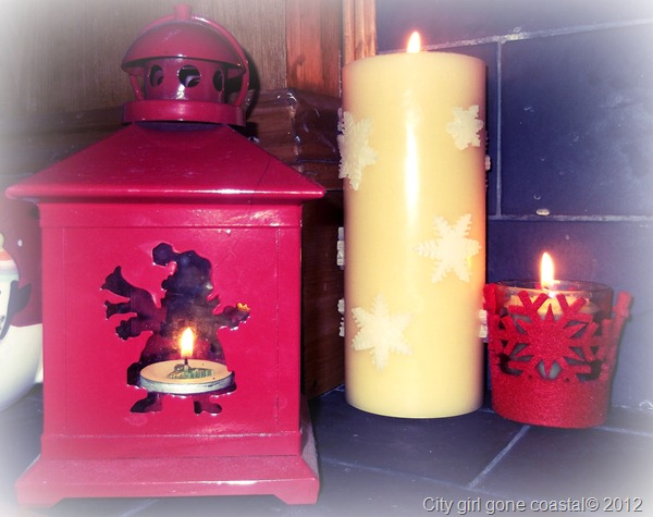 christmas candles and lantern
