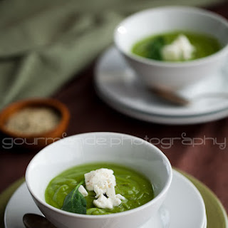 Creamy Broccoli Spinach Soup.