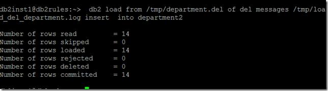 DB2 Export/Import/load   SQL Panda