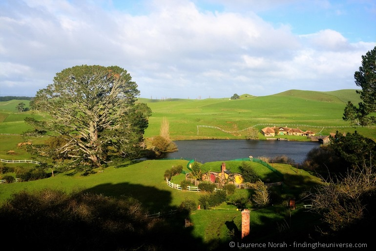 View of hobbiton from bag end New Zealand 2