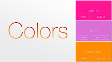 Screenshot of Color Reference