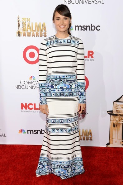 Mia Maestro attends the 2014 NCLR ALMA Awards