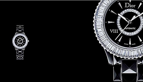 DIOR VIII baguette-cut white diamonds BEZEL