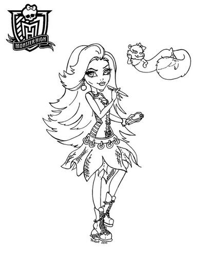 Monster High Para Colorear Imprime Tu Monster High Para Colorear
