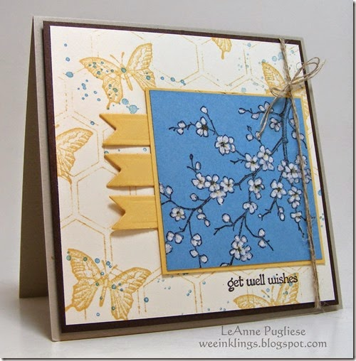 LeAnne Pugliese WeeInklings Get Well Stampin Up Easter Blossoms