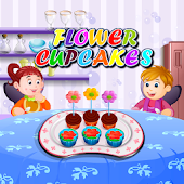 Flower Cupcakes Cooking