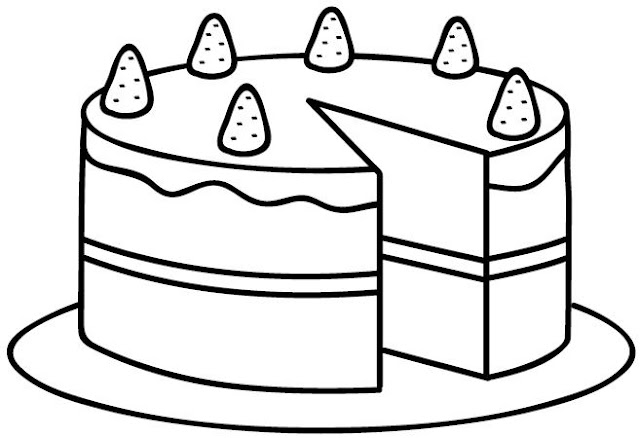Dibujos De Tarta Para Pintar