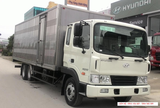 Xe tải Hyundai 13,5 tấn thùng kín