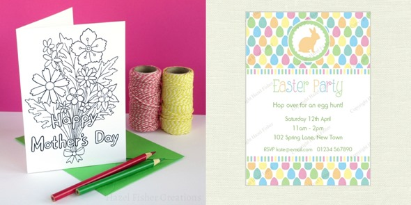 2014 March new designs Mothers Day and Easter invitation
