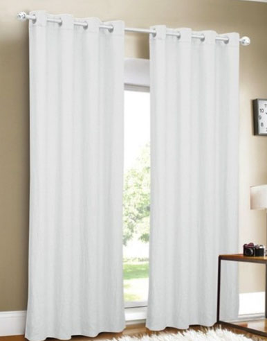 Curtains long white
