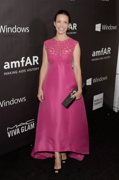 Kristin Davis attends the 2014 amfAR LA Inspiration Gala