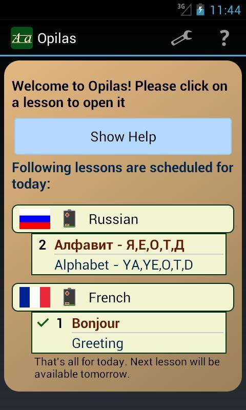 Opilas Pro- screenshot