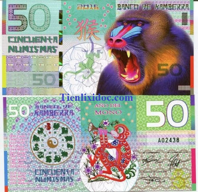 Tiền Con Khỉ Úc Kamberra