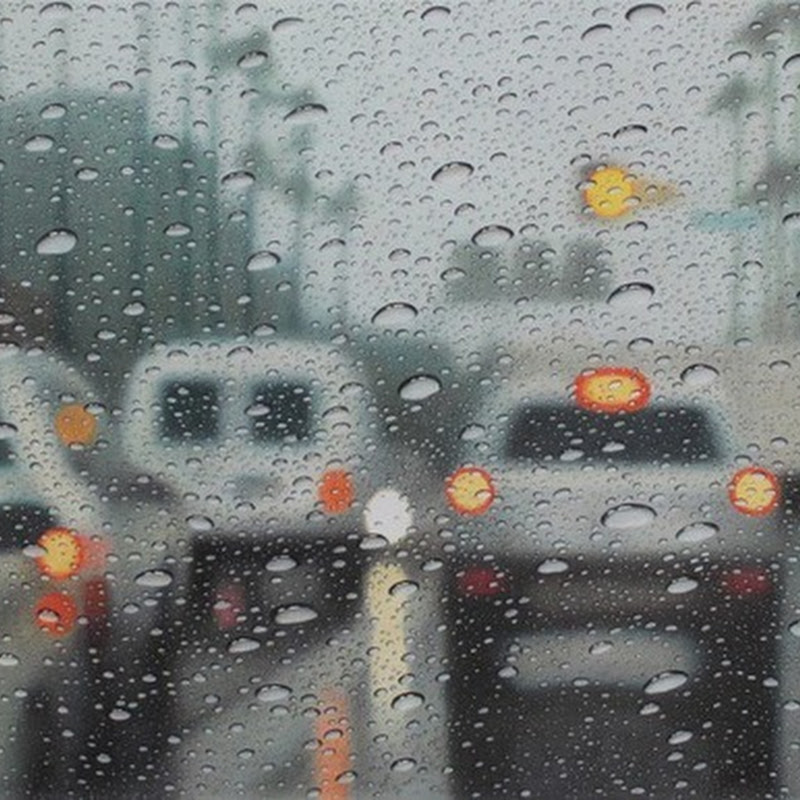 Hyperrealistic Drawings of Rain on Windshield by Elizabeth Patterson