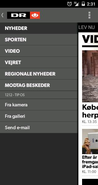 DR Nyheder- screenshot