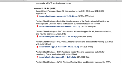 From errors we learn    : How to install Oracle Instant