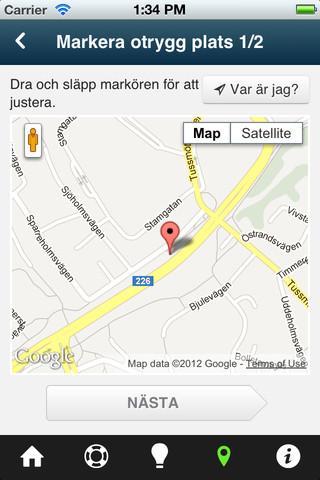 Brottsofferappen — Tryggare Sv- screenshot