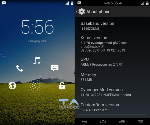 Android Update News: Update Galaxy W I8150 to Android 4 4 2