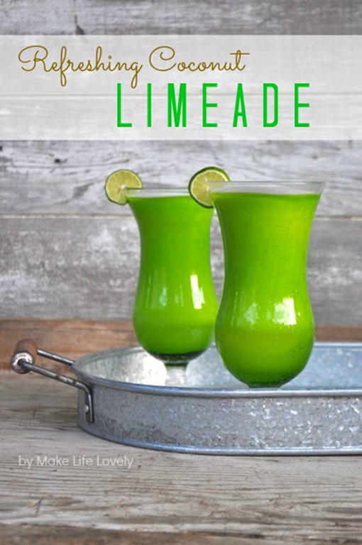 Coconut Limeade, by Make Life Lovely