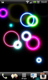 Neon Rings Live Wallpaper FREE- screenshot thumbnail