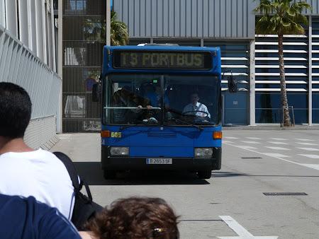 Autobuz port Barcelona