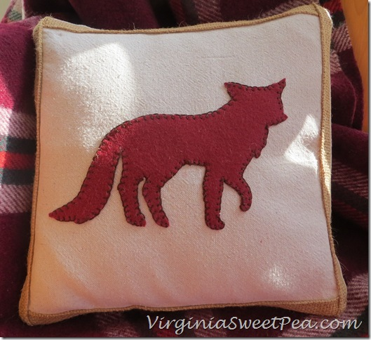 Fox Pillow for Fall
