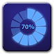 Circle battery disc widget