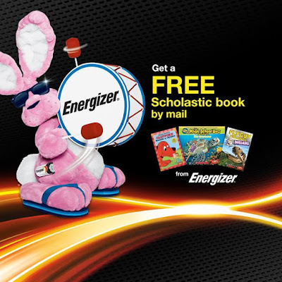 Together with Energizer were giving away a FREE Scholastic book by mail