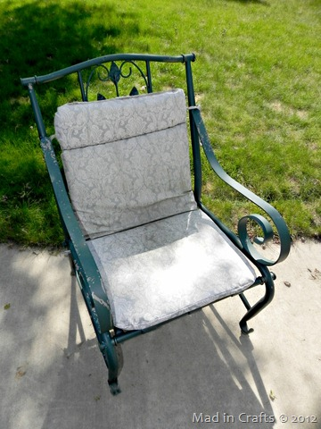 patio chair before