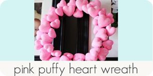 pink puffy heart wreath