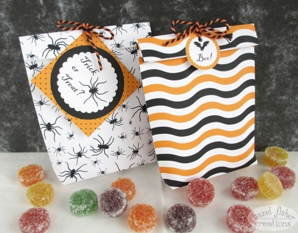 15 October 2014 Halloween printables gift bag diy tutorial hazel fisher creations 2