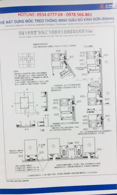 Kết cấu mặt dựng nhôm XIngfa hệ 65
