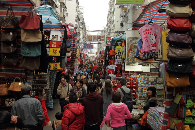Bargain Shopping at Ladies Market, Mong Kok, Hong Kong