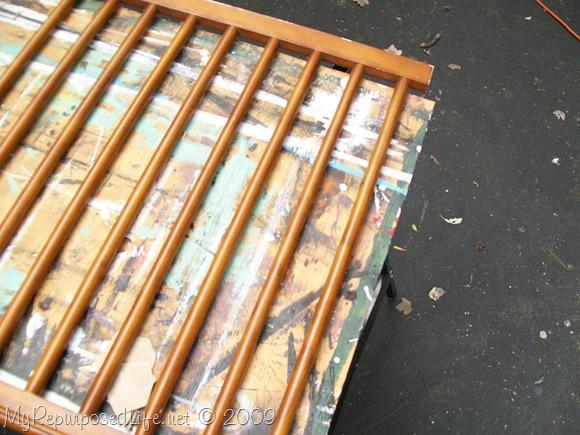 crib rail repurposed