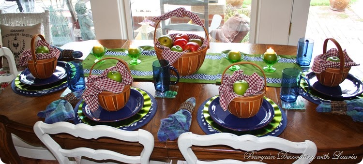 Apple Basket Tablescape for Fall