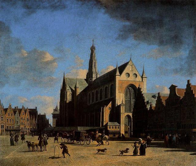 Gerrit Adriaenszoon Berckheyde - 15 La Place du Groote Markt à Haarlem.jpg
