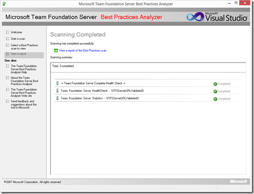 """TFS Best Practice Analyzer fails with """"Cannot validate the"""