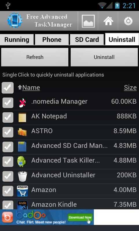 Free Advanced Task Manager – Capture d'écran