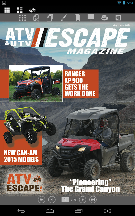 ATV&UTV ESCAPE Magazine- screenshot