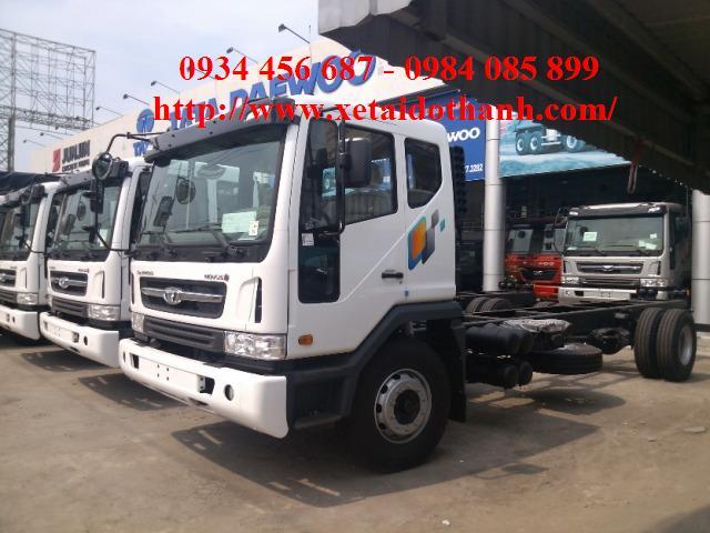 Xe Daewoo 8.5 tấn sử dụng động cơ công suất 320Ps, thùng dài 7m4